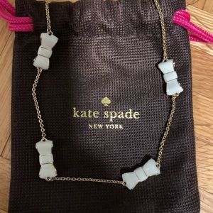 Kate spade white bow necklace